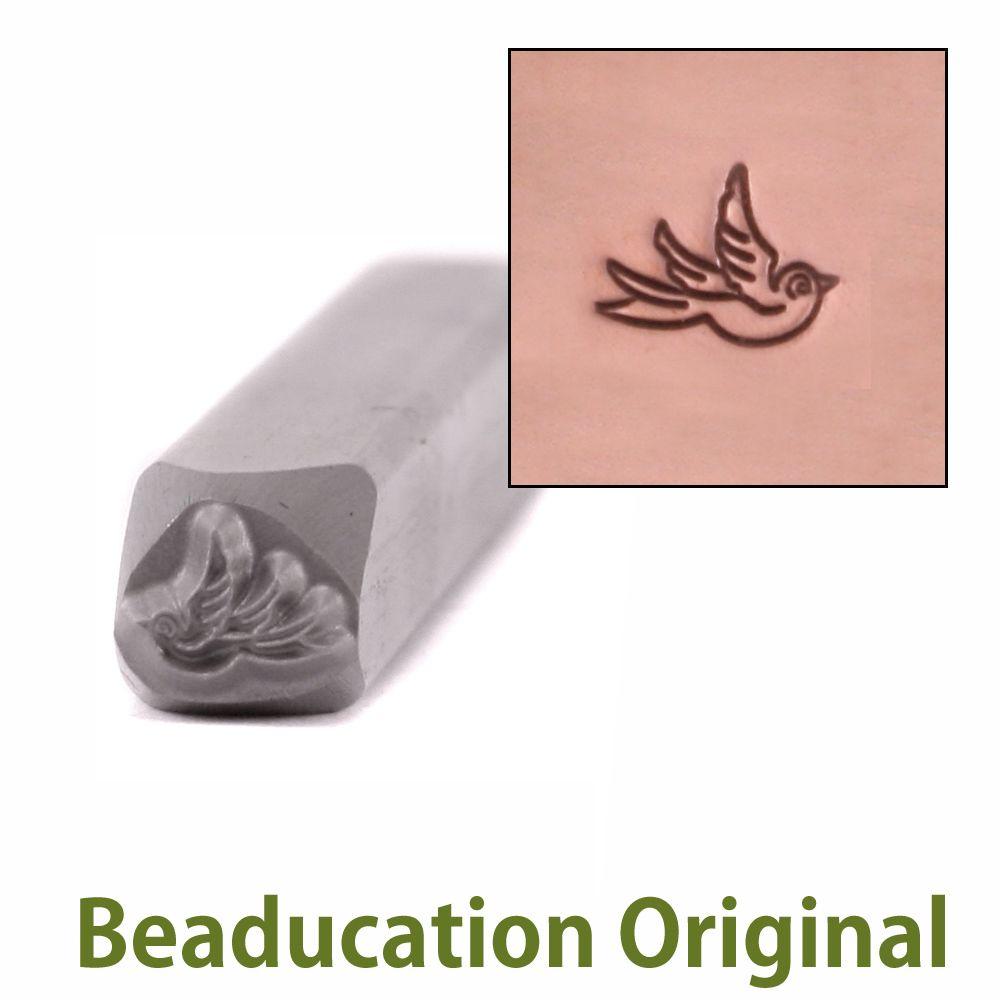 398 Baby Swallow right facing Beaducation Original Design Stamp