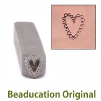 DS390 Lacey Heart Beaducation Original Design Stamp