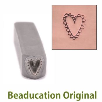 390 Lacey Heart Beaducation Original Design Stamp