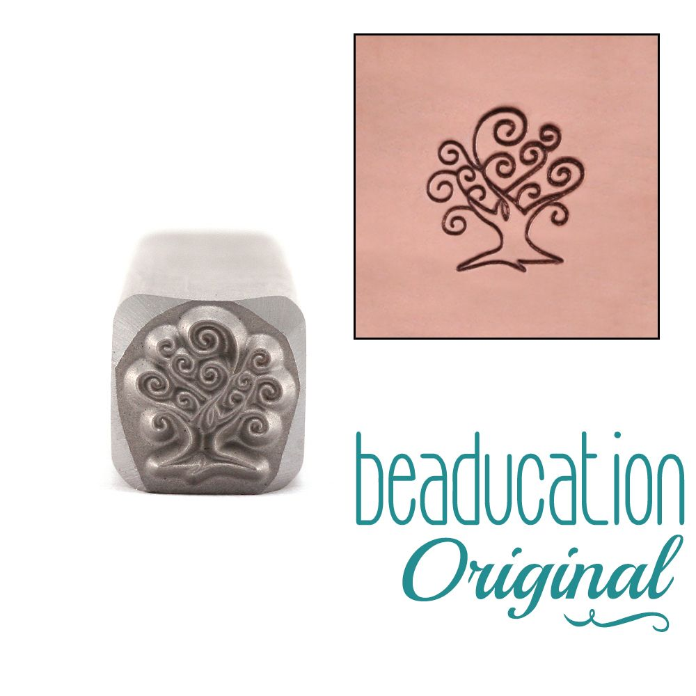 504 Small Tree Of Life Beaducation Original Design Stamp
