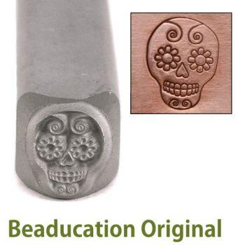 242 Sugar Skull Beaducation Original Design Stamp