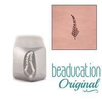 500 Medium Fern / Feather Design Stamp 9 mm Beaducation Original Design Stamp
