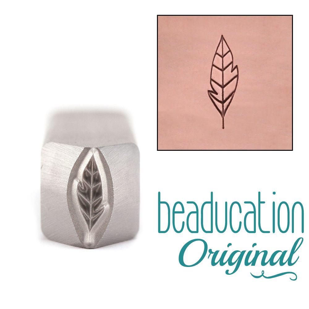 Large Leaf / Feather 11 mm Beaducation Original Design Stamp