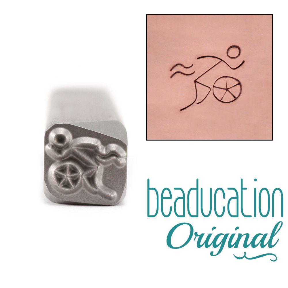 496 Triathlete Beaducation Original Design Stamp