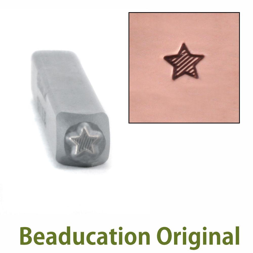 423  Lined Star Beaducation Original Design Stamp