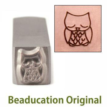 280 Sleepy Owl Beaducation Original Design Stamp