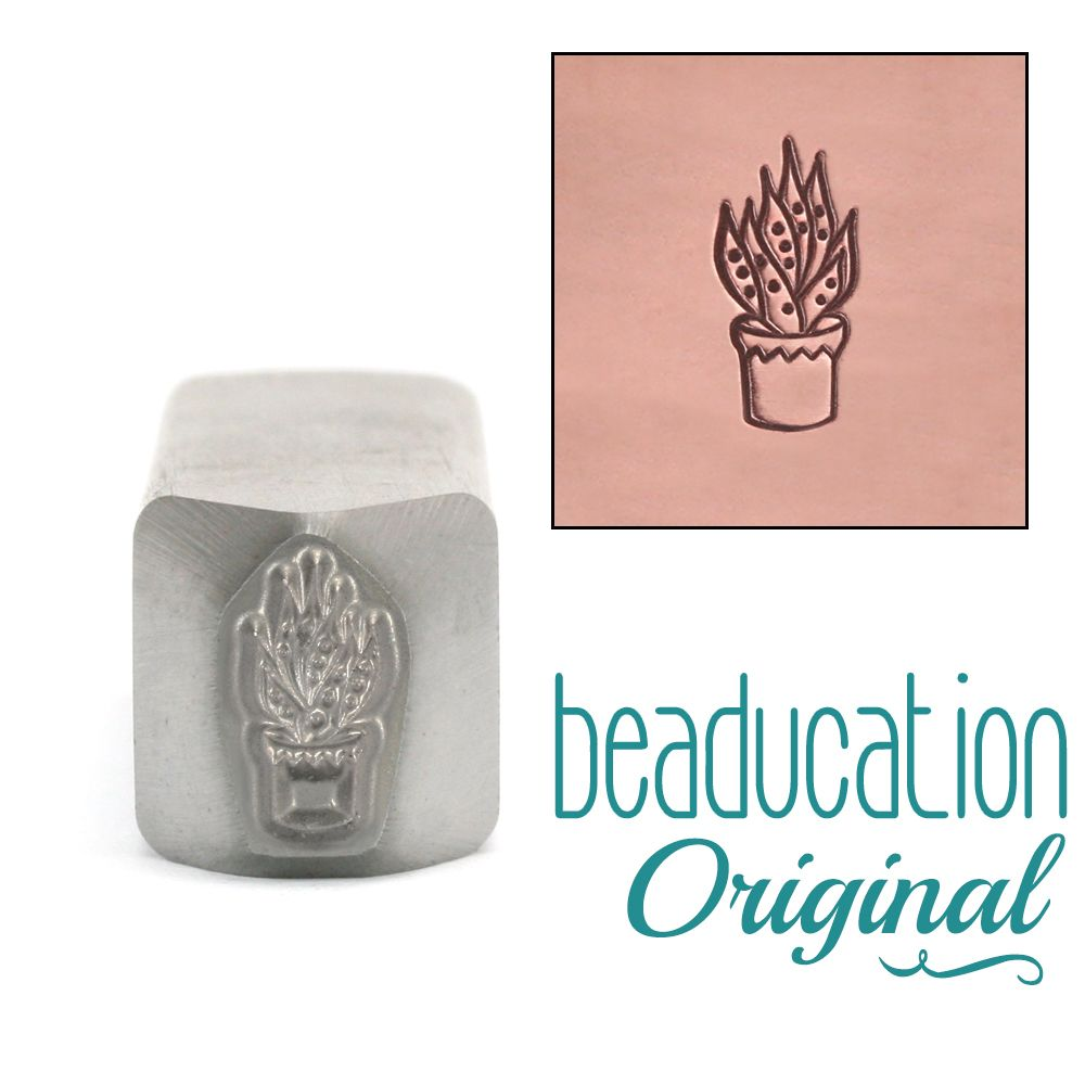 565 Aloe Vera Succulent Beaducation Original Design Stamp