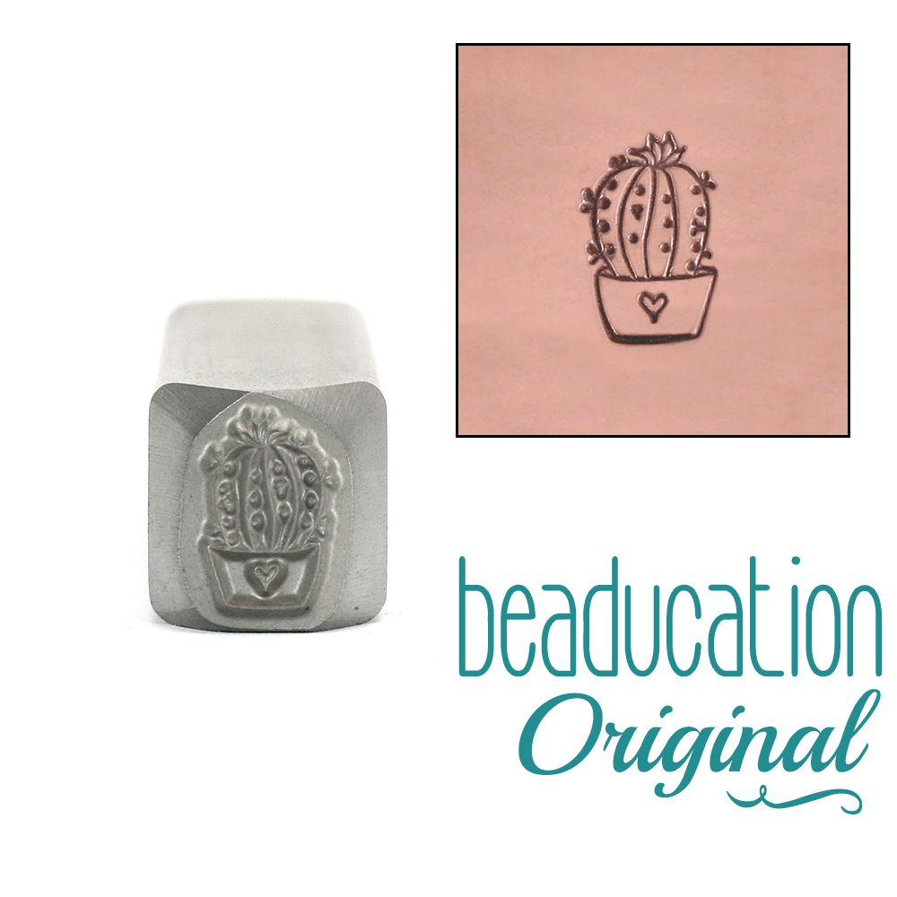 Small Cactus Succulent Beaducation Original Design Stamp