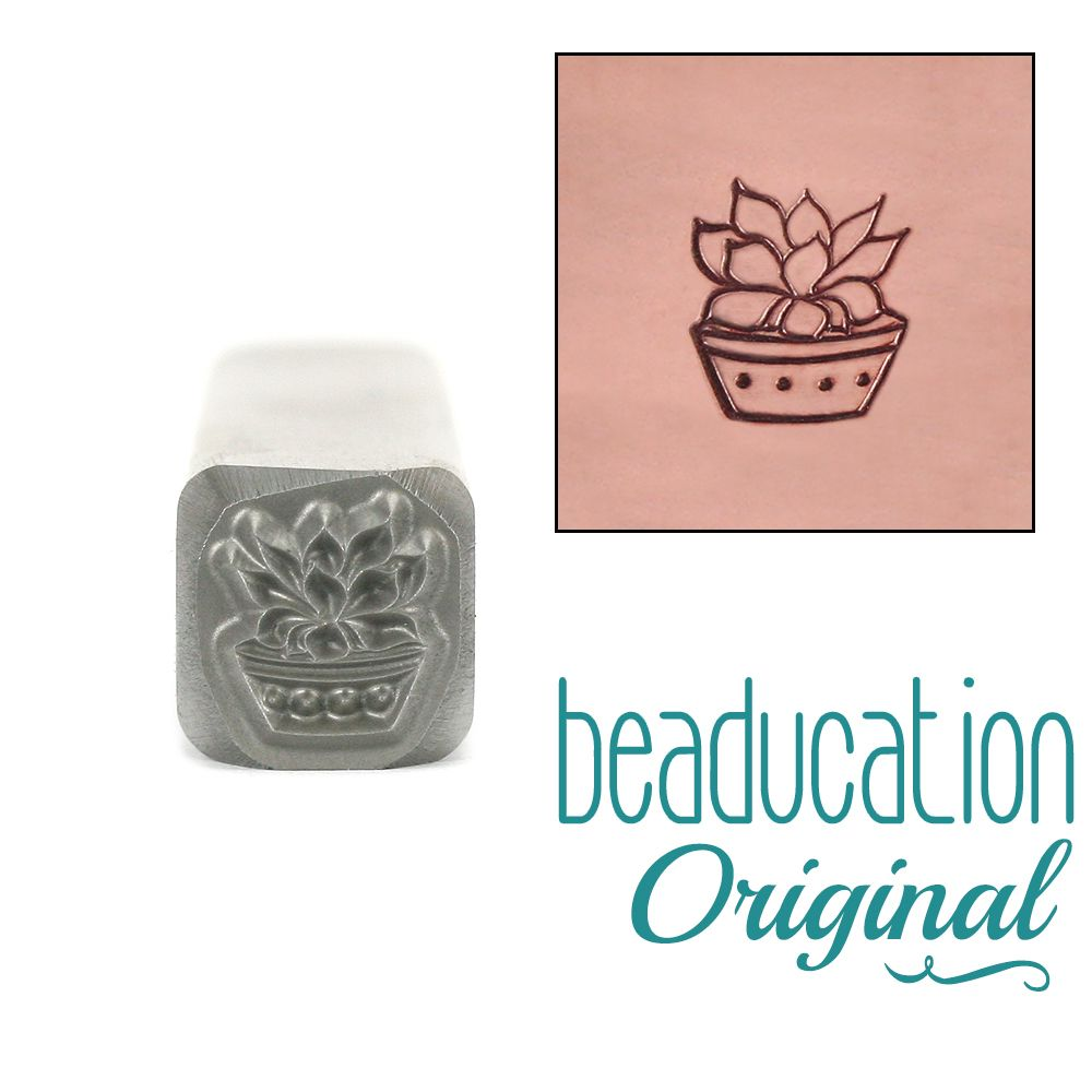 566 Green Prince Succulent Beaducation Original Design Stamp