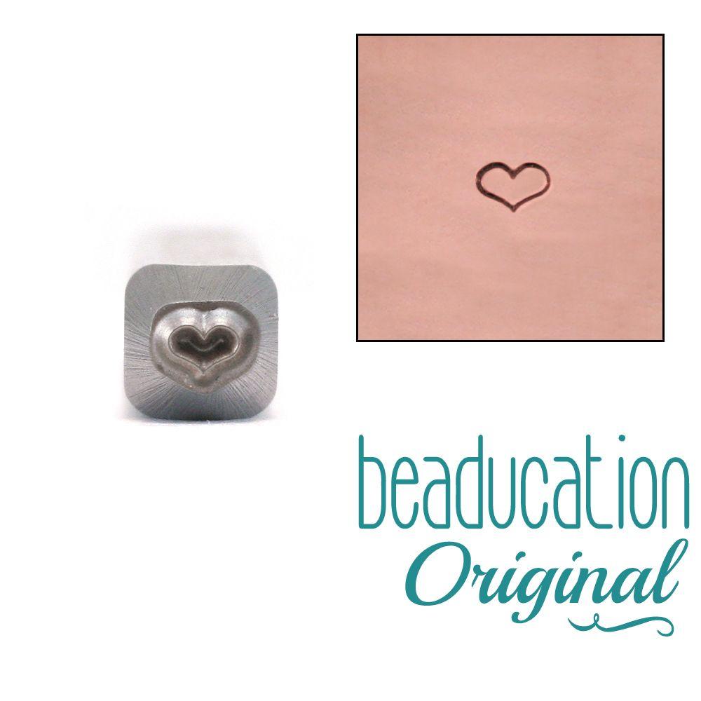 587 Fat Outline Heart 3 mm Beaducation Original Design Stamp