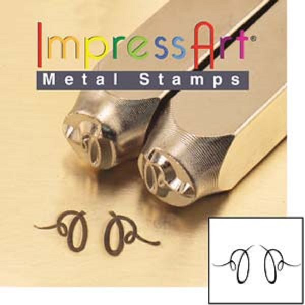 ImpressArt Flourish M Pair of Ends 6mm Metal Stamping Design Punches