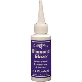 Judikins Diamond Glaze Dimensional Adhesive 2 fl oz bottle