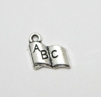 ABC book charms x 10