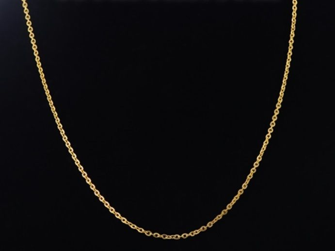Stainless Steel Gold Plated Link Cable Chain Necklace 18