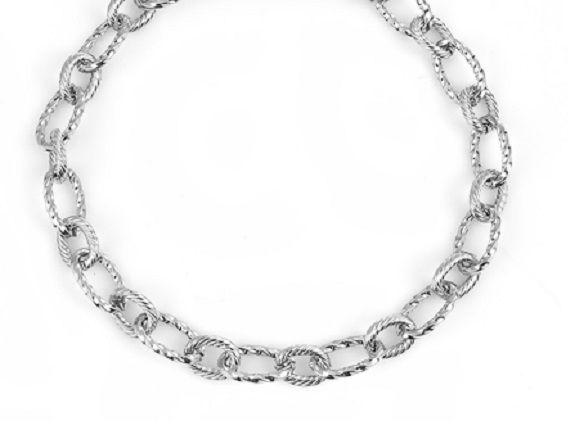 Stainless Steel Link Bracelet 21 cm 1 Piece