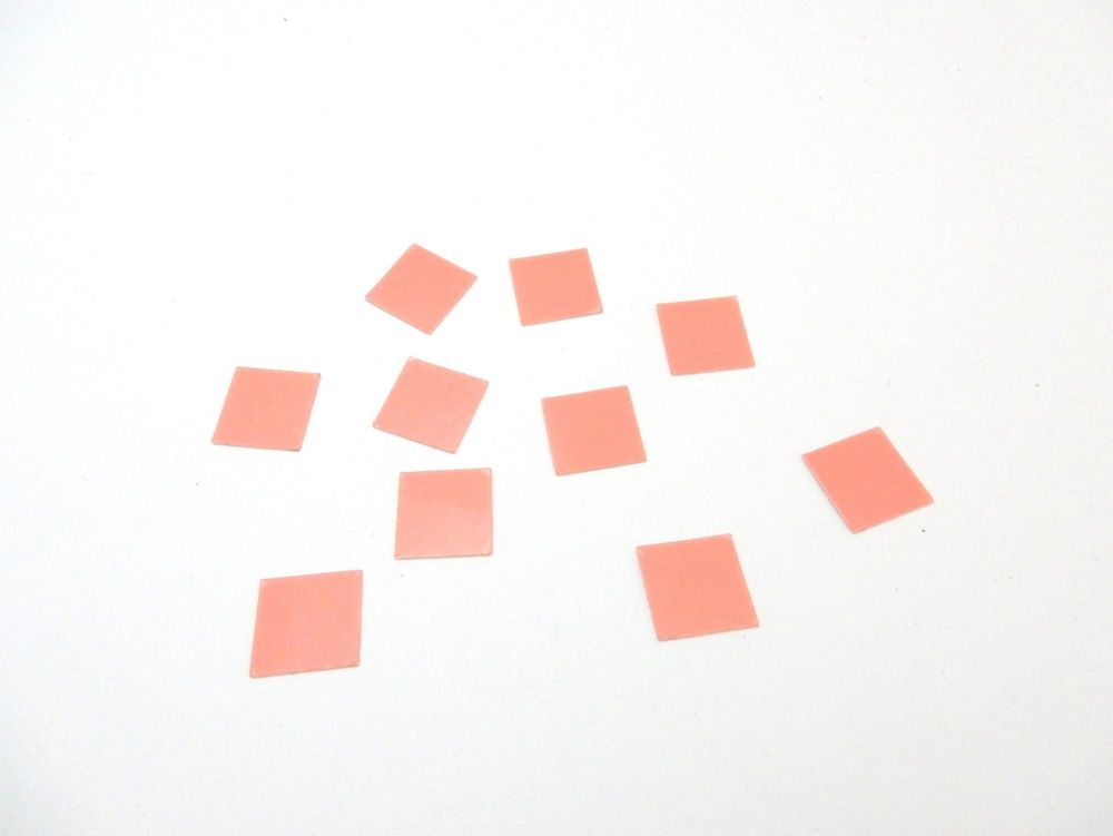 16mm Square Craft seals for making glass dome jewellery