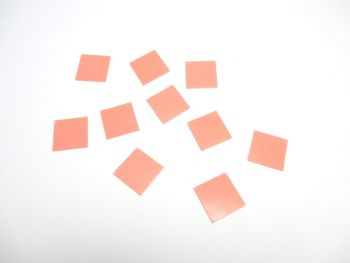 20 mm Square Craft seals for making glass dome jewellery
