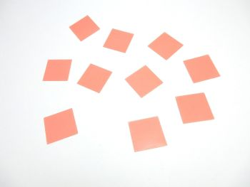 25 mm Square Craft seals for making glass dome jewellery