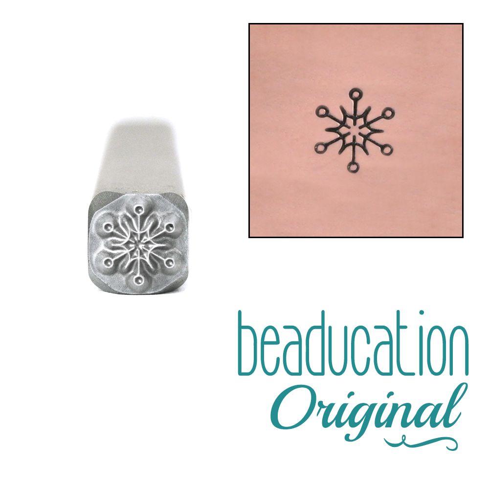 635 Modern Snowflake Beaducation Original Design Stamp