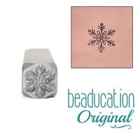 636 Traditional Snowflake Beaducation Original Design Stamp