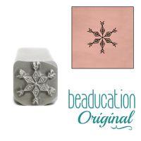 DS760 Boho Snowflake Beaducation Original Design Stamp