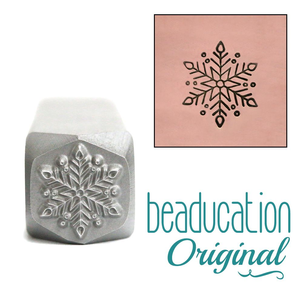 761 Classic Snowflake Beaducation Original Design Stamp