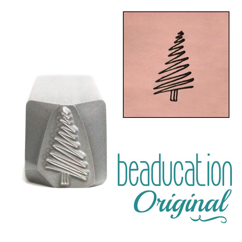 764 Scribble Christmas Tree Beaducation Original Design Stamp