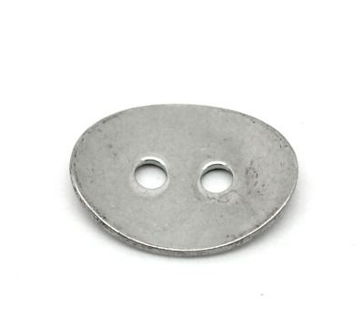 SILVER TONE - STAINLESS STEEL ' 14 x 11 MM OVAL BUTTON ' STAMPING BLANKS -