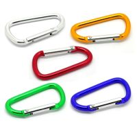 COLOURED D-RING PUSH CLASP - PACK OF 1 - PICK YOUR COLOUR