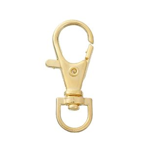 GOLD PLATED - LOBSTER SWIVEL CLASP - PACK OF 10