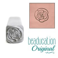 DS714 Open Rose Flower Beaducation Original Design Stamp 8 mm