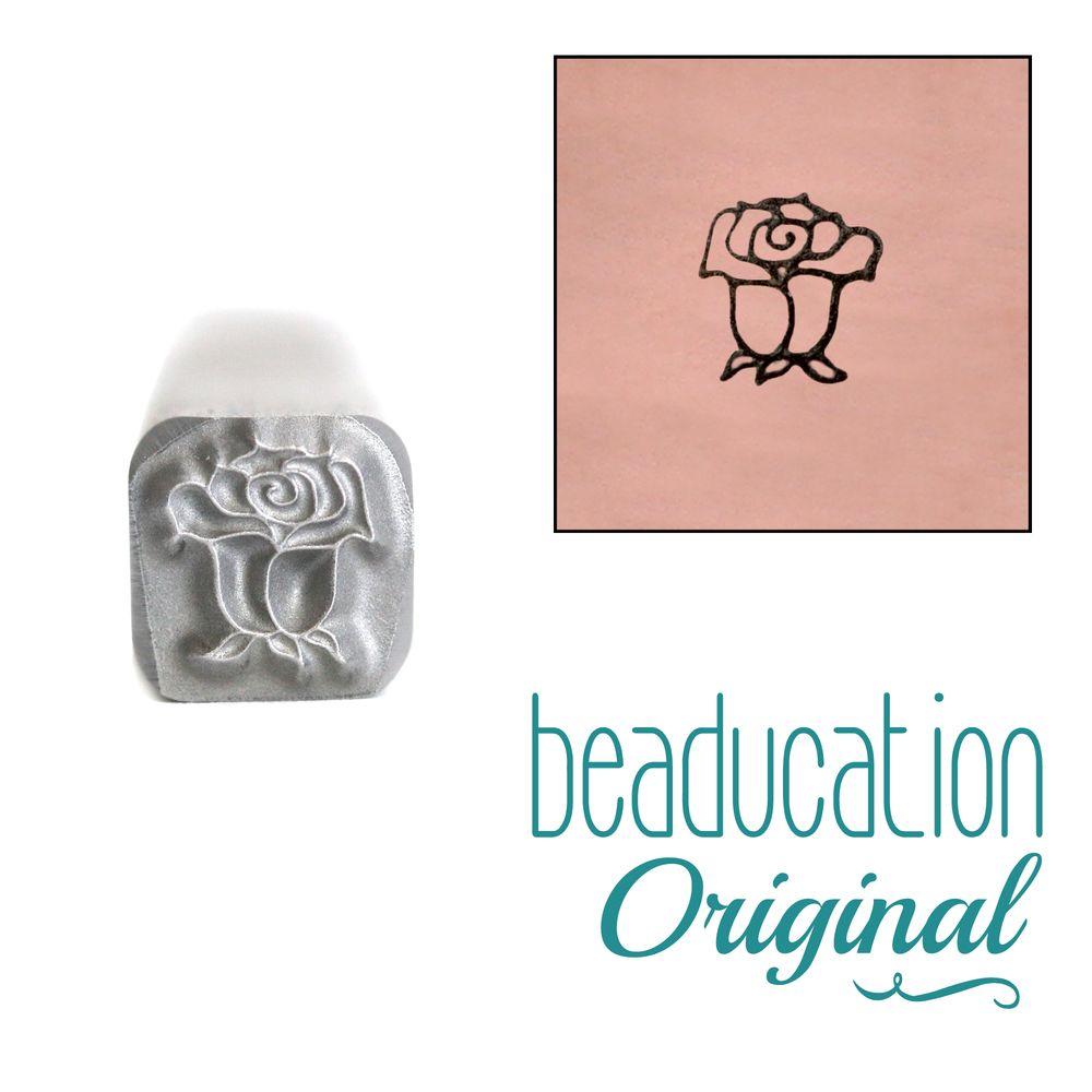 716 Rose Bud Flower Beaducation Original Design Stamp 5 mm
