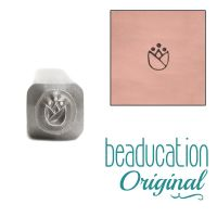 727 Tulip Flower Metal Design Stamp 3.6 mm- Beaducation Original