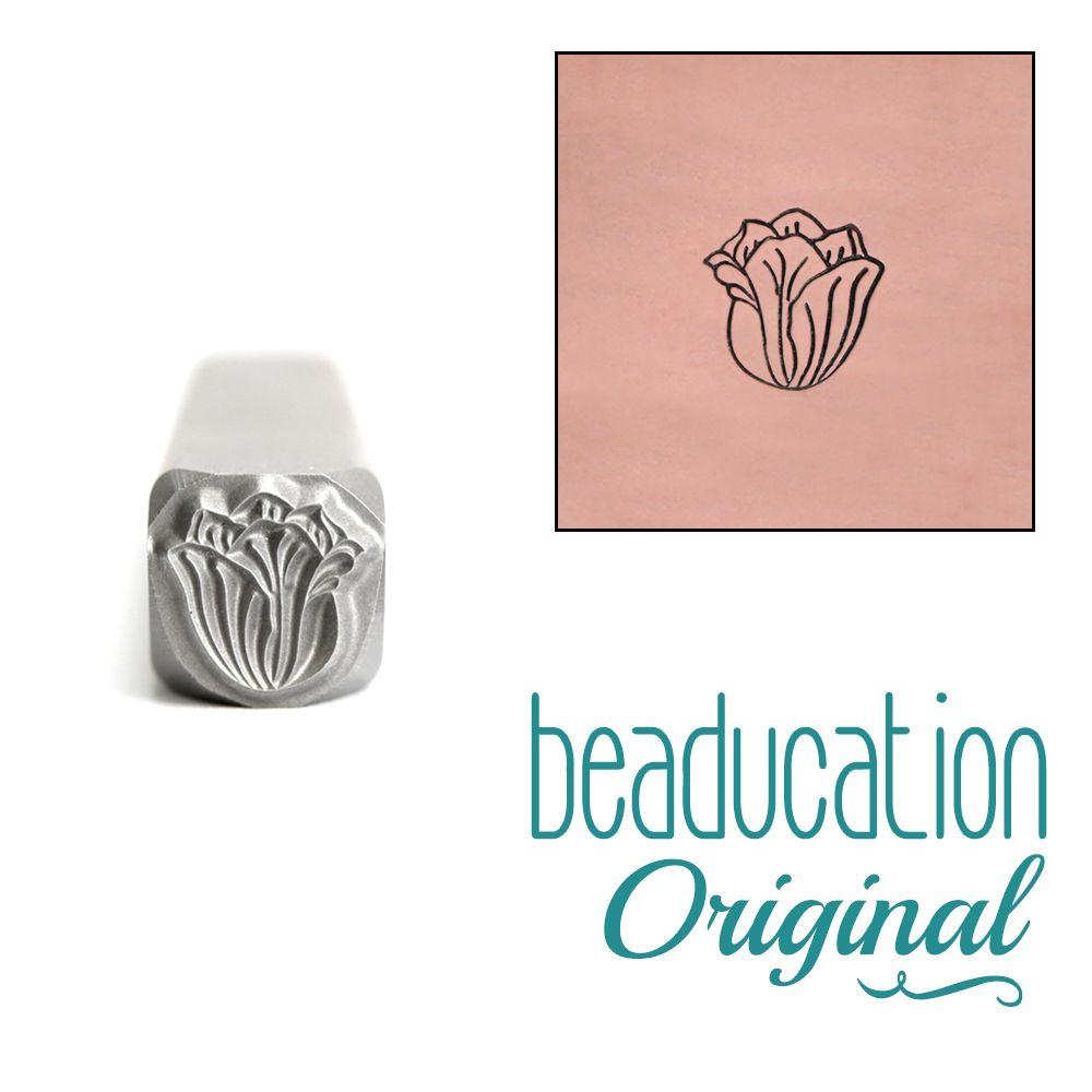 729 Tulip Flower Beaducation Original Design Stamp 5 mm