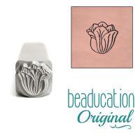 728 Tulip Flower Beaducation Original Design Stamp 8 mm