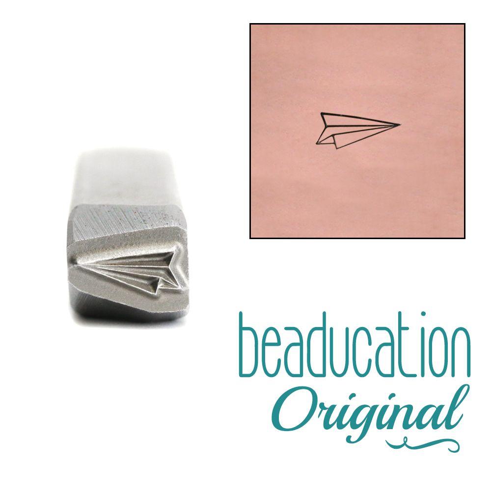 704 Paper Airplane (Aeroplane) Beaducation Original Design Stamp 5 mm