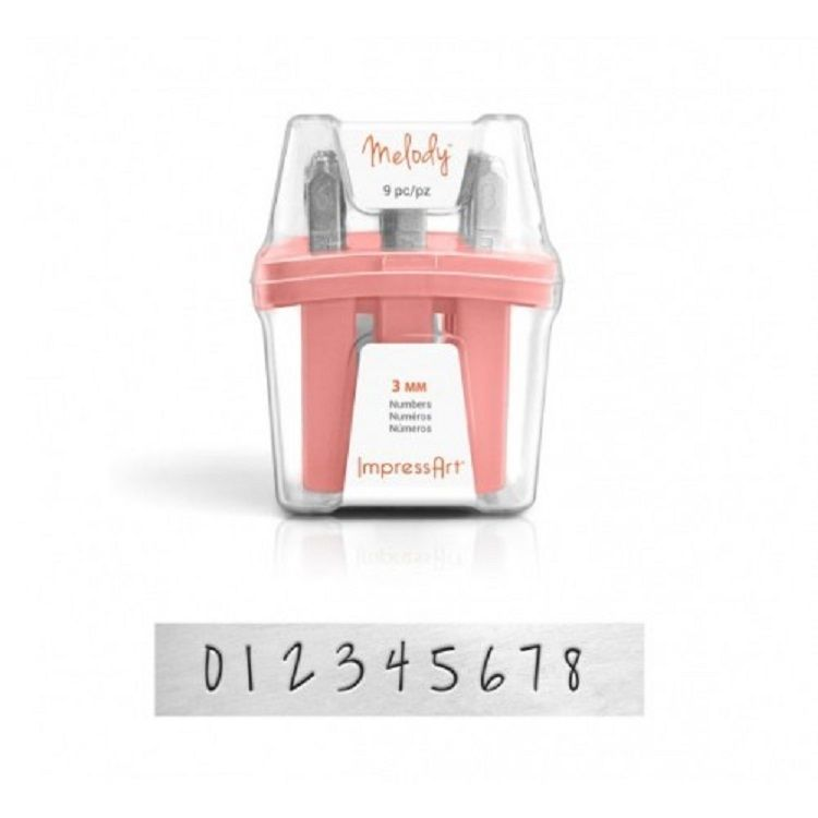 Impressart Melody Stamps, Numbers - 3 mm
