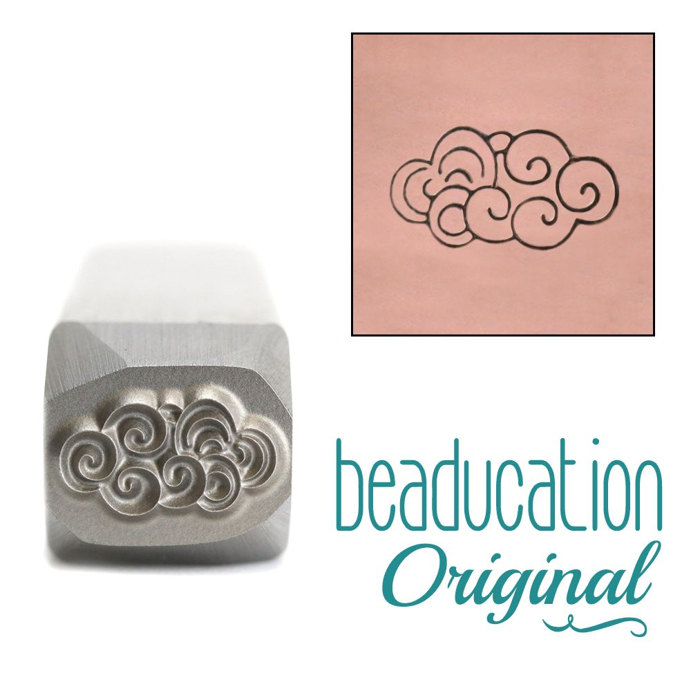 657 Swirly Cloud Original Design Stamp 11 mm
