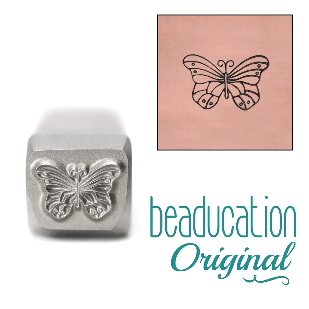 654 Monarch Butterfly Original Design Stamp 10 mm