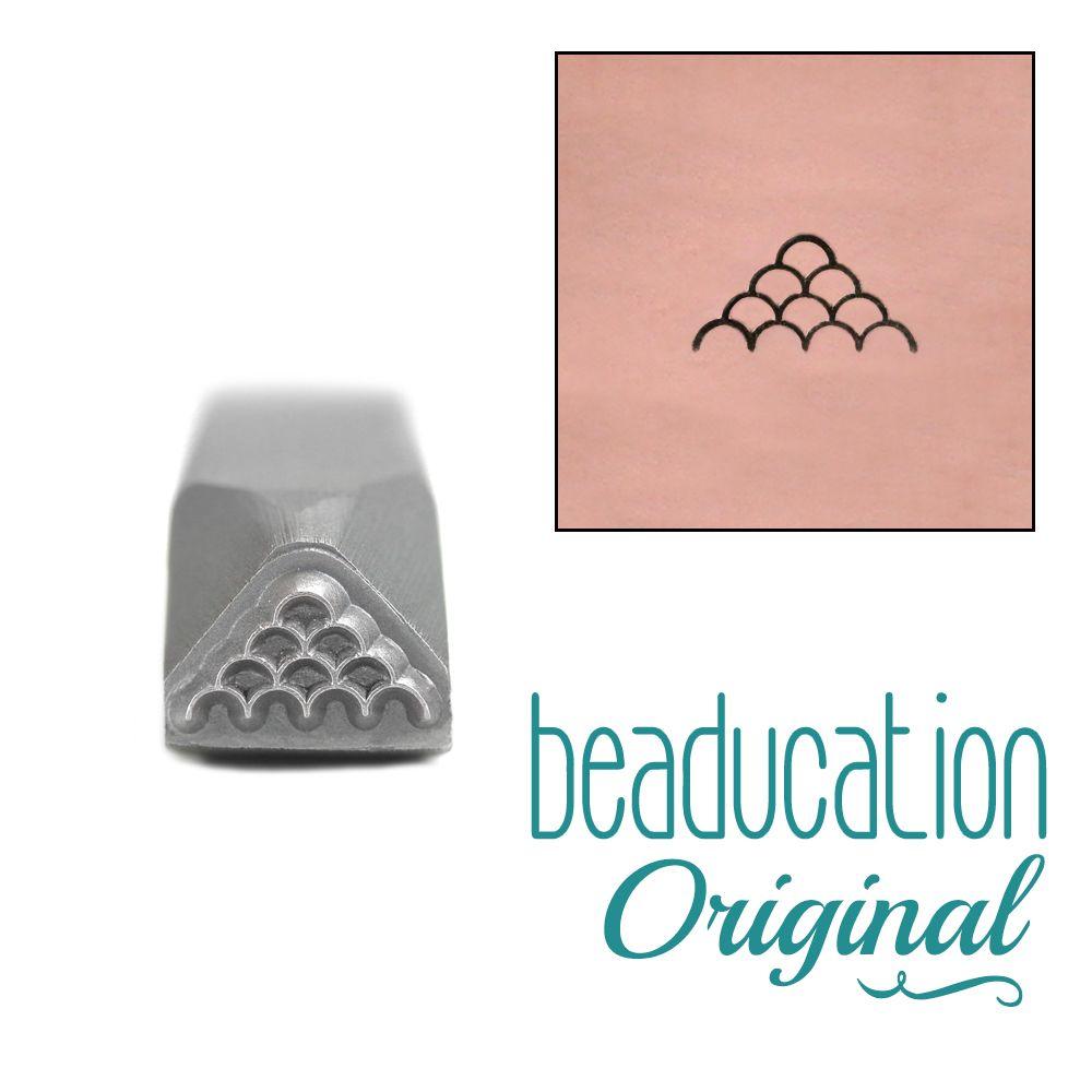 617 Mermaid Scales Original Design Stamp 8 mm