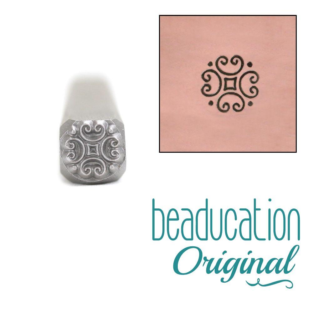 618 Scroll Detail Beaducation Original Design Stamp 5 mm