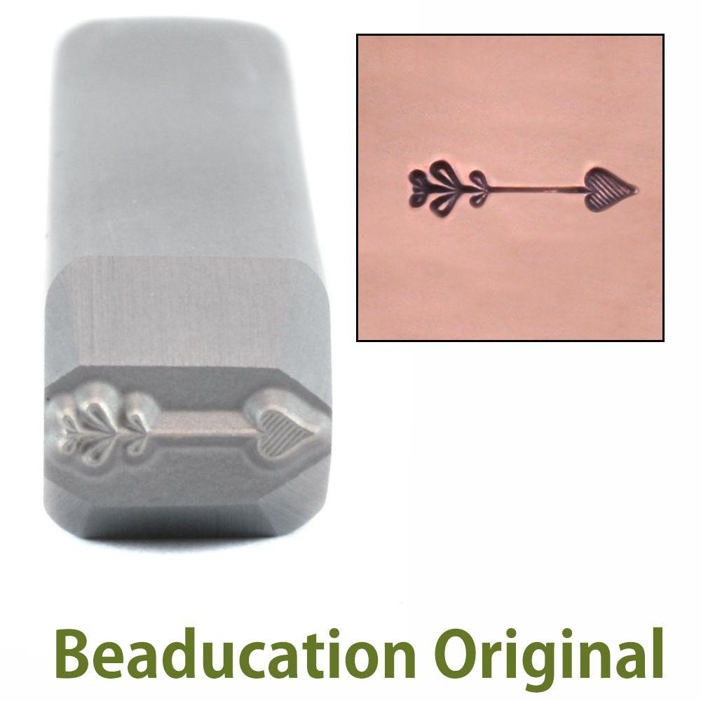 418 Heart Arrow Beaducation Original Design Stamp