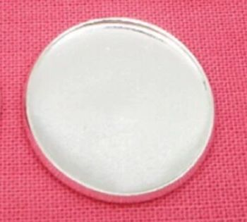25 mm Silver Plated Settings light weight thin cabochon tray 10 pack NO LOOP