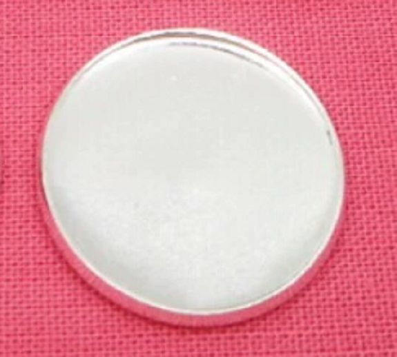25 mm Silver Plated Settings light weight thin cabochon tray 10 pack NO LOO