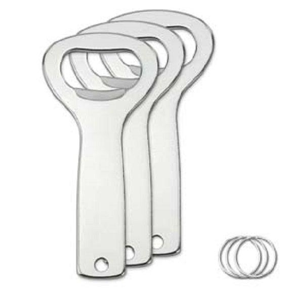 Bottle Opener - Aluminium - with 25 mm Split Ring