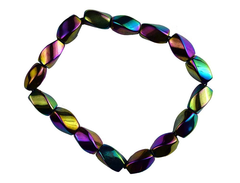 Rainbow Hematite ready made bracelet style 2