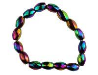 Rainbow Hematite ready made bracelet style 3