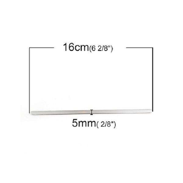 Stainless Steel Bangle Bracelet Strip 16 cm (6 2/8