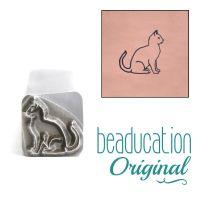 DS809 Sitting Cat Beaducation Original Design Stamp