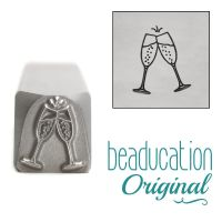 DS937 Champagne Toast Beaducation Original Design Stamp